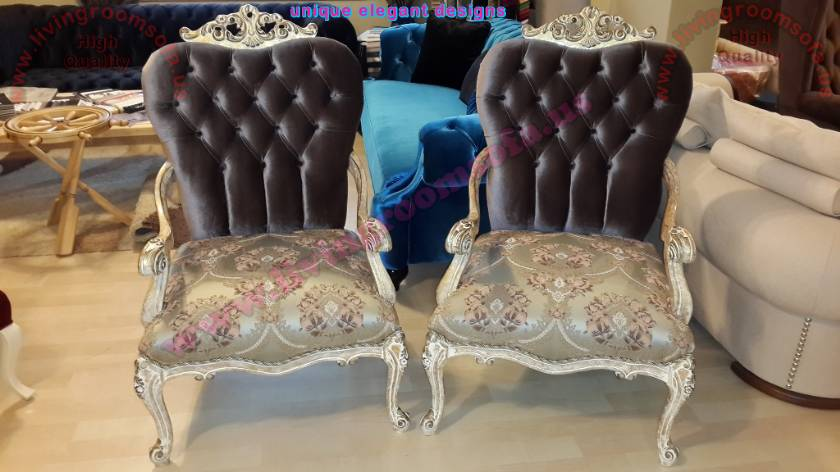 Classic and Modern Unique Couple Chairs Luxury Interior Design
