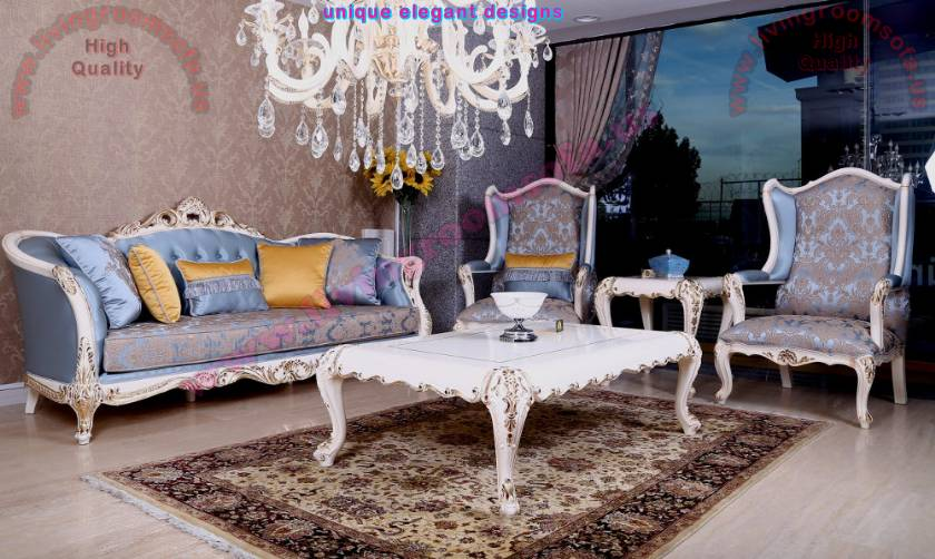 Classic gorgeous living room sofa sets