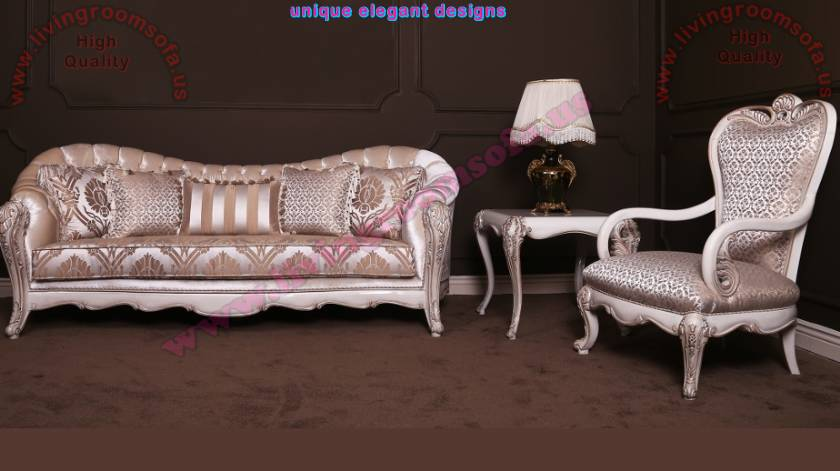 Classic Sofa design for living room woven fabrics