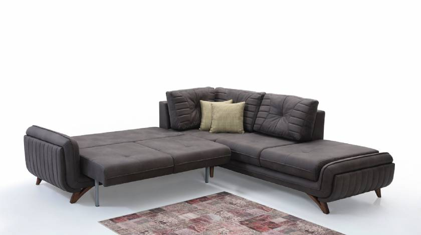 DimGray L Shaped Modern Sofabeds for small living room