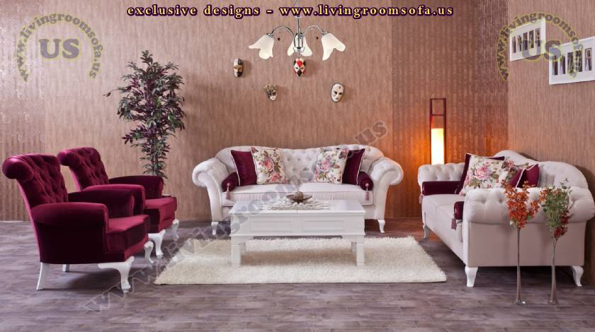 elegant modern classic living room sofa set