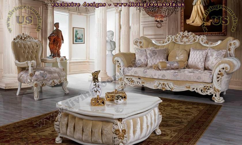elegant retro classic living room sofa design