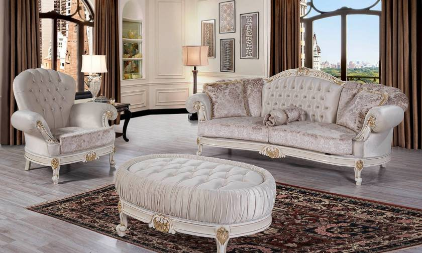 Elegant Traditional Luxury Sofa Love Seat Chair 3 Piece Formal Living Room Set