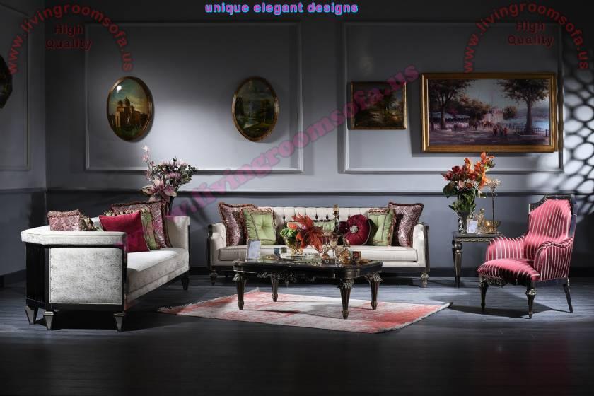 Elite Luxury Living Room Sofa Set Elegance art decor concept