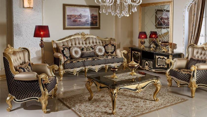 European Style Luxury Living Room Sets Elegance Living Room Furniture
