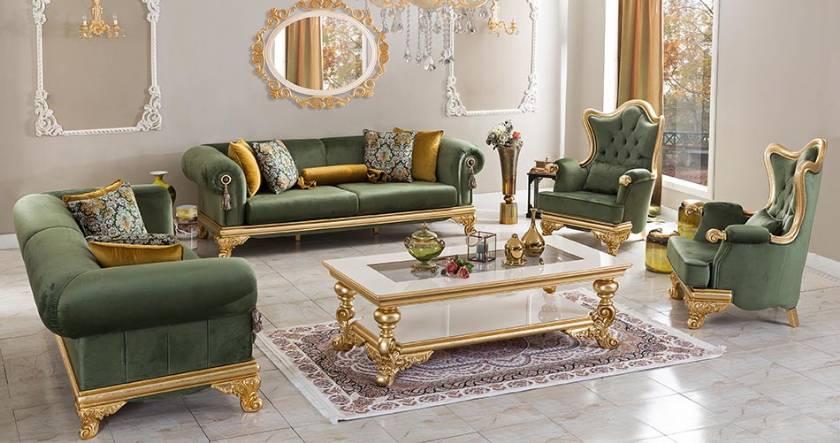 Frankfurt Modernes klassisches Sofa Luxussofa eingestellt