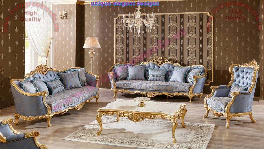 French Classical Luxury Sofa Set Carved Handcraft