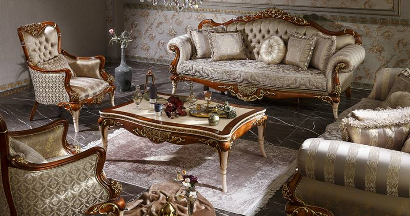 George VIctorian Luxury Living Room Sofa Set Luxury Sofas