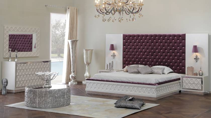 Glamour elegance luxury modern bedroom furniture new style design