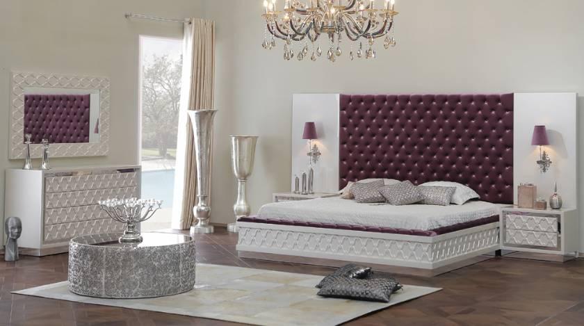 Glamour elegance luxury modern bedroom furniture new style design
