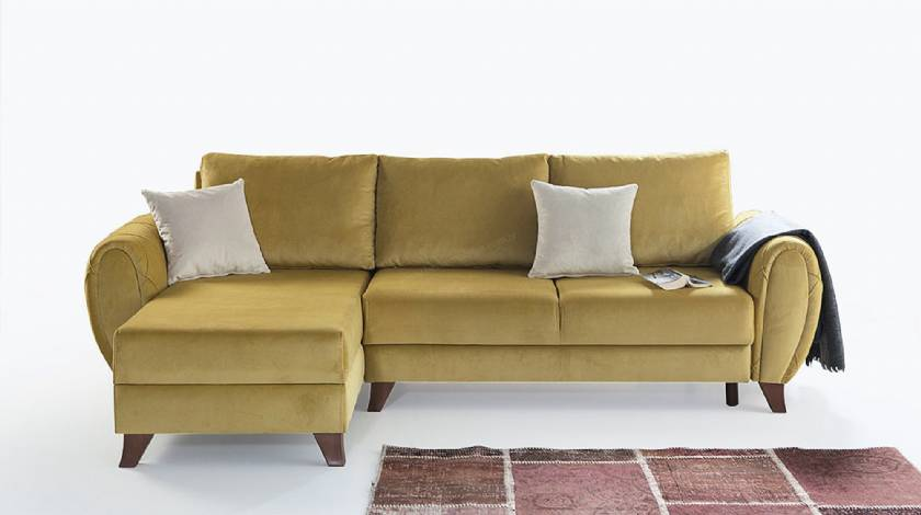 Goldenrod Modern Corner Sofa for small spaces