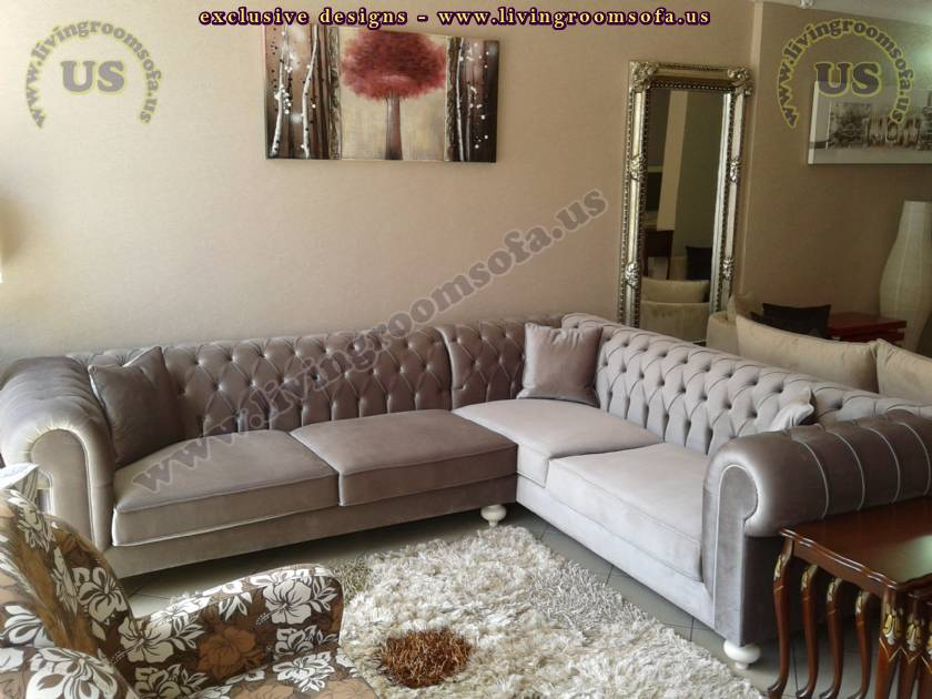 handmade sectional chesterfield sofa elegant living room design. luxury chesterfield style sectional sofa elegant living room