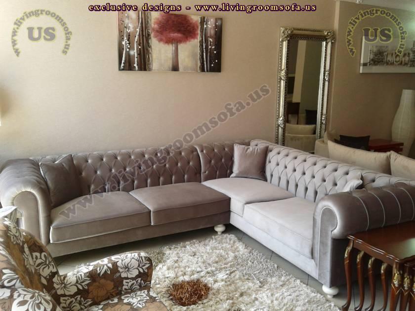 handmade sectional chesterfield sofa elegant living room design