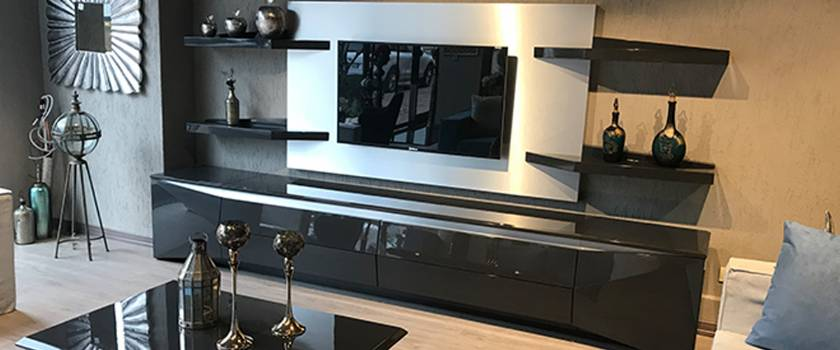 High Gloss TV stands Luxury modern units and cabinets new style
