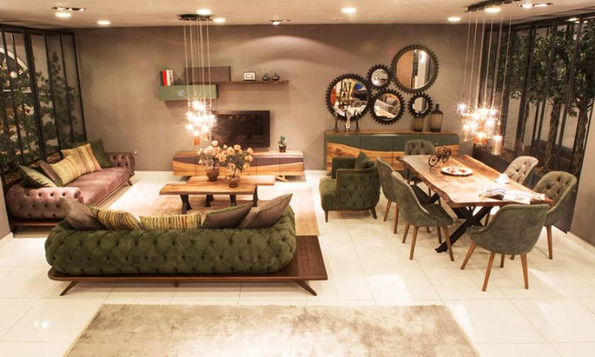 ideas for modern living room furniture table chairs sofa set mirrors wall unit