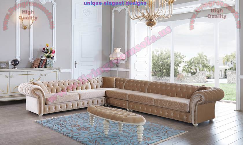 Large Chesterfield Corner Sofa Design