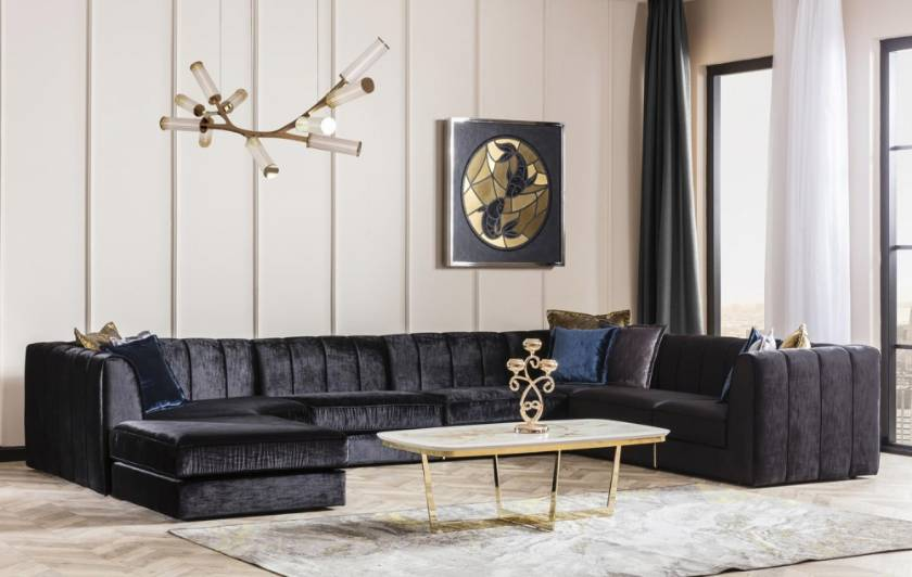 Las Vegas Black Corner Sofa with lounge black corner sofas