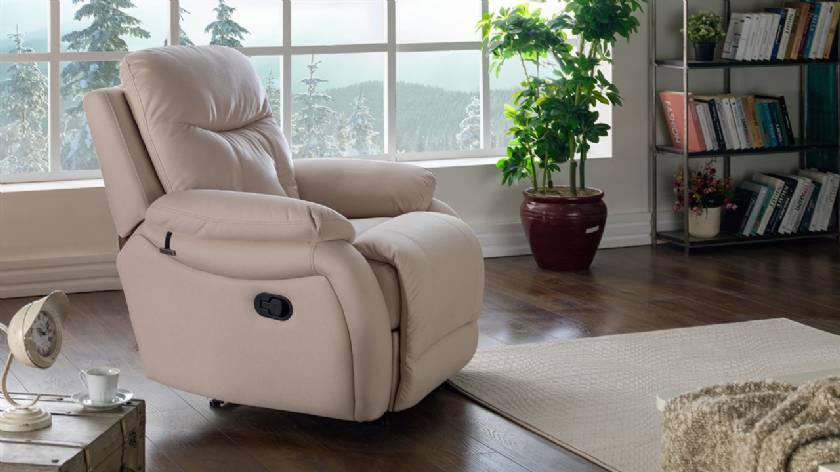 Leather Power recliner contemporary recliners