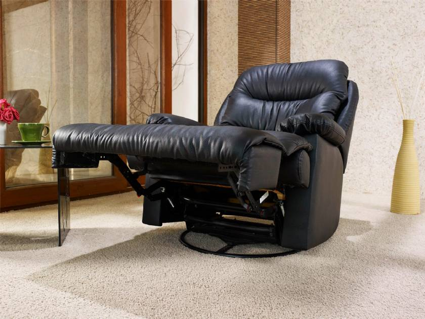 Leather swivel reclining chairs black leather recliner sofa