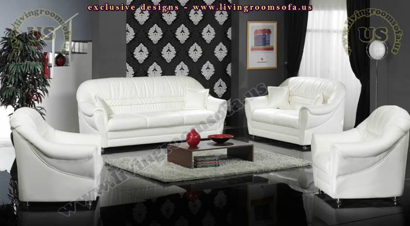 loft classic modern sofa set white leather