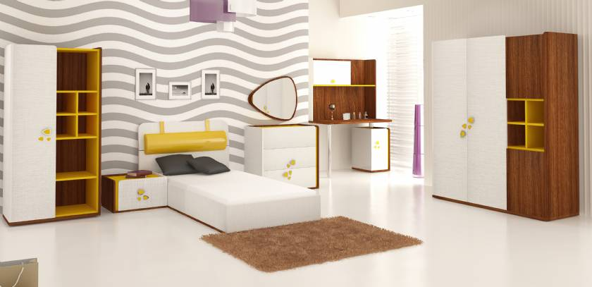 Long Beach Teenage Bedroom Design Modern Style