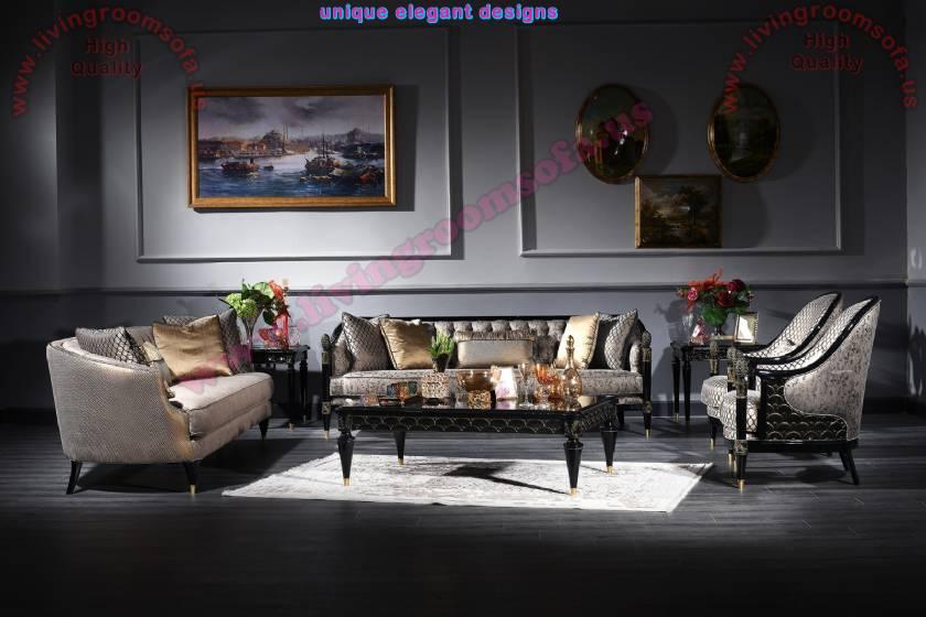 Princess Classical art deco sofa sets for living room ...