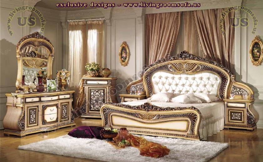 Lovely Royal Furniture Bedroom Sets antique wooden style