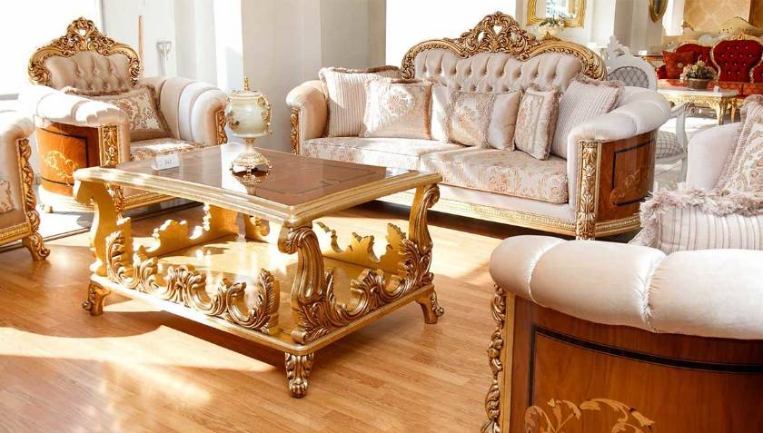 Luxury and classic sofas armchairs classic coffee table and living rooms