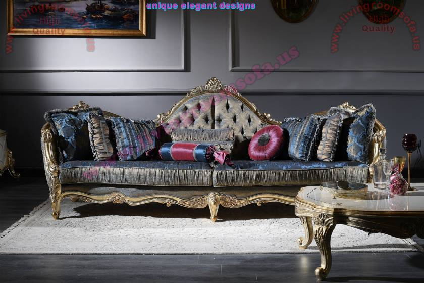 Luxury Classic 4 Seaters Sofa Royal Living Room Design