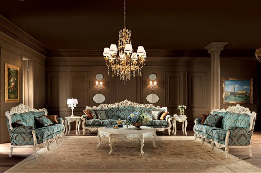 Luxury Classic Living Room made in Italy classic luxury sofas