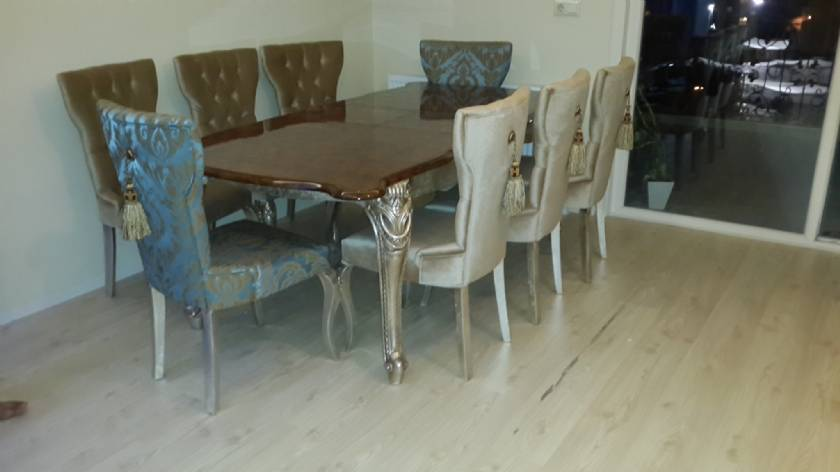 luxury dining room desk and chairs