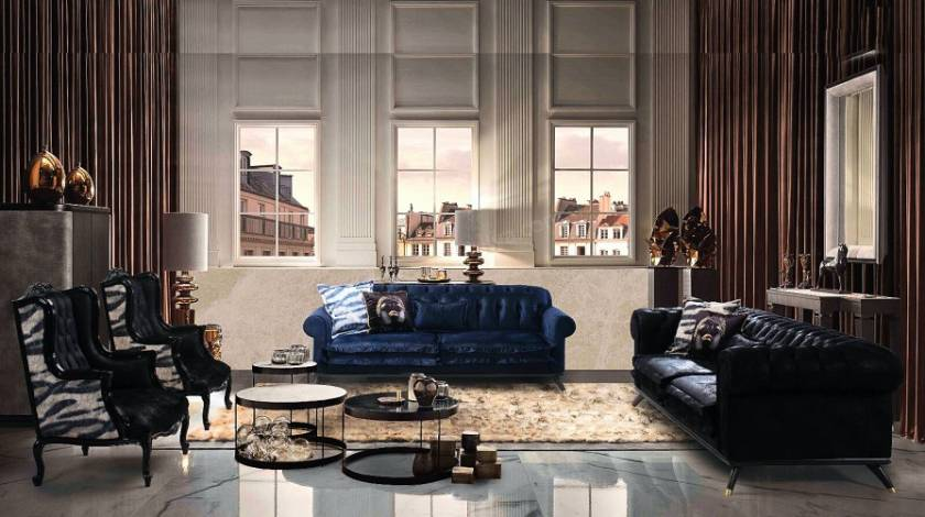 luxury leather sofa with stylish chesterfield pattern new cool design