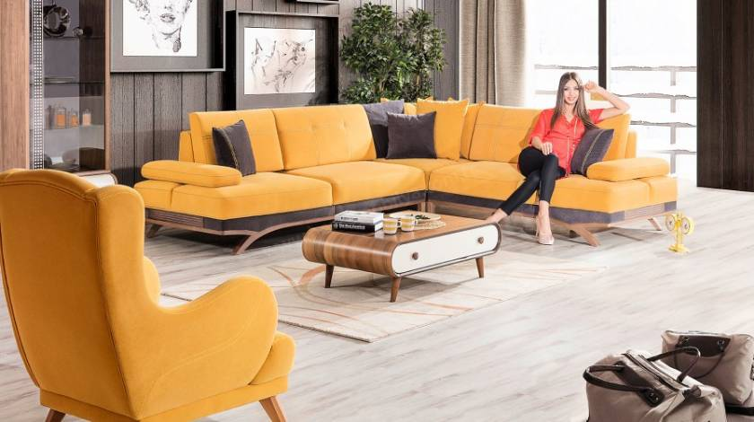 Luxury modern sectional sofa luxury yellow sectional sofas