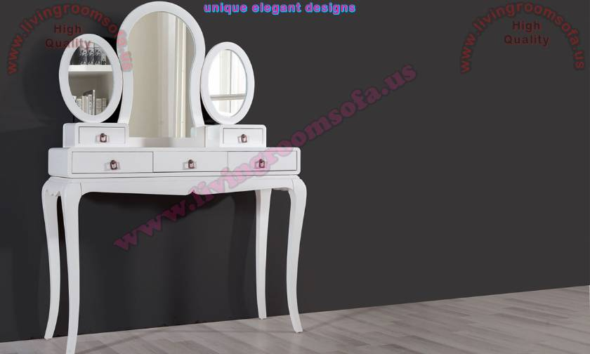 Make-up Desk White Lacquer Classic chest of drawers