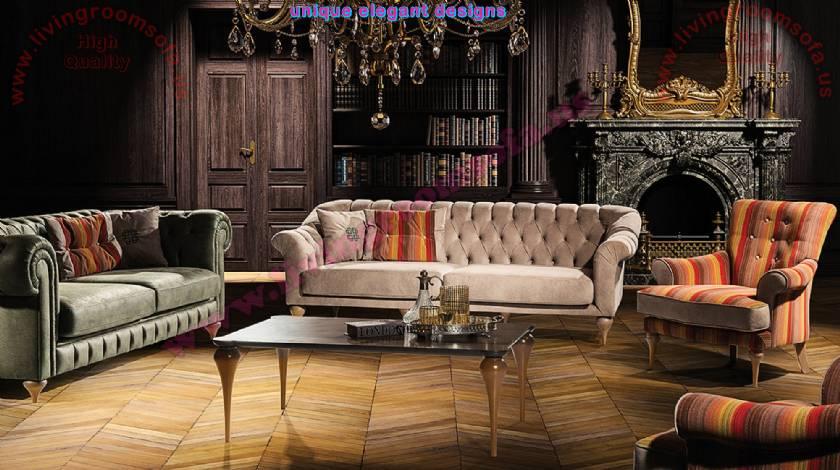 Maria Nubuck Modern Chesterfield Sofa