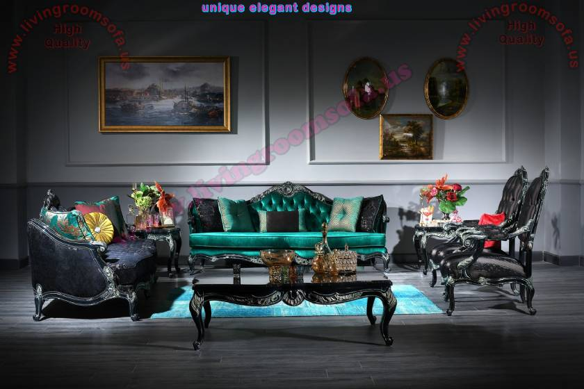 Miss Witch Luxury Classical Sofa Sets for living room the best design all the time