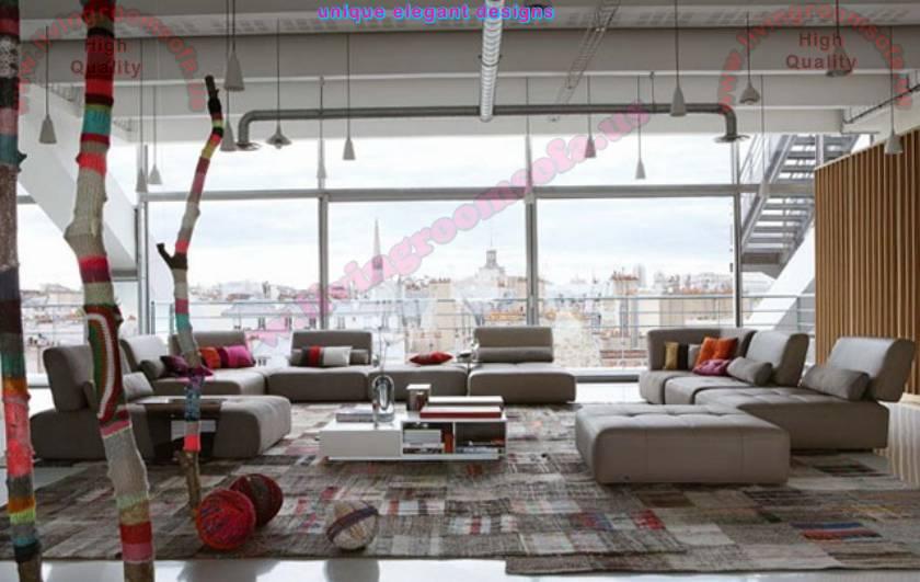 Mixing traditional and modern modular corner sofa