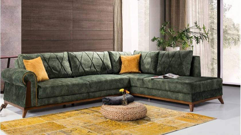 Modern corner sofa small size with lounge l shaped corner sofa