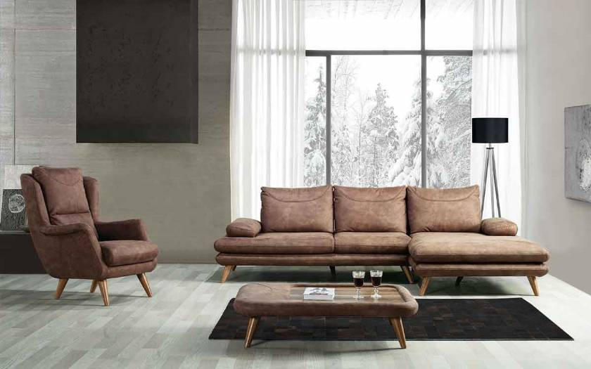 Modern Corner Sofa with chair for small spaces luxury modern sofas