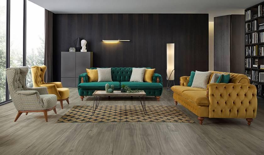 modern italian fabric living room sectional sofa set hyper soft comfortable