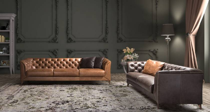 Modern Leather Sofa Couhes New Style Luxury Living Room