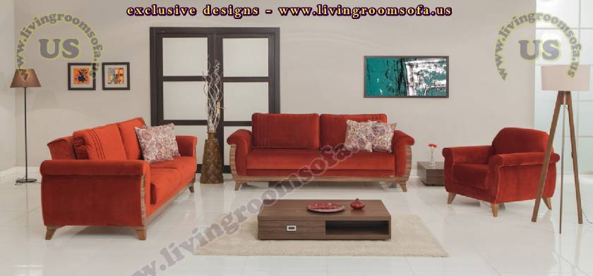 modern living room fabric sofa set design