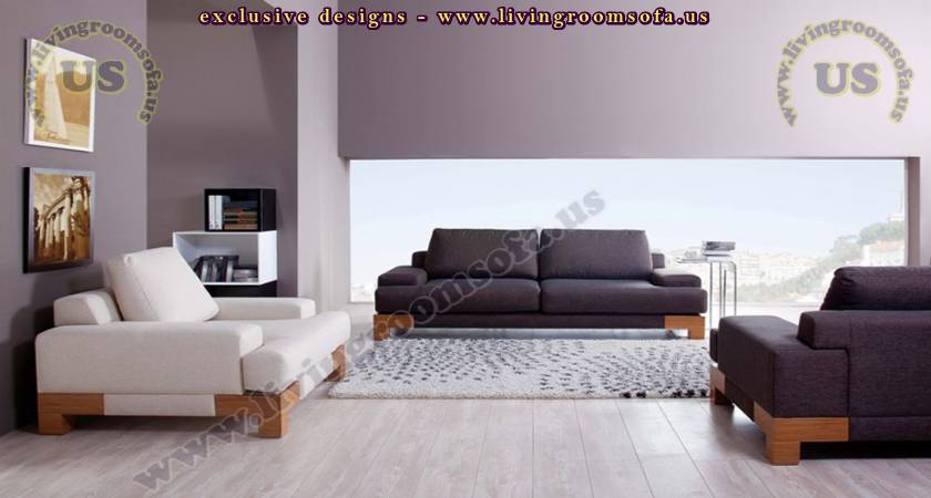 White Modern Living Room Set