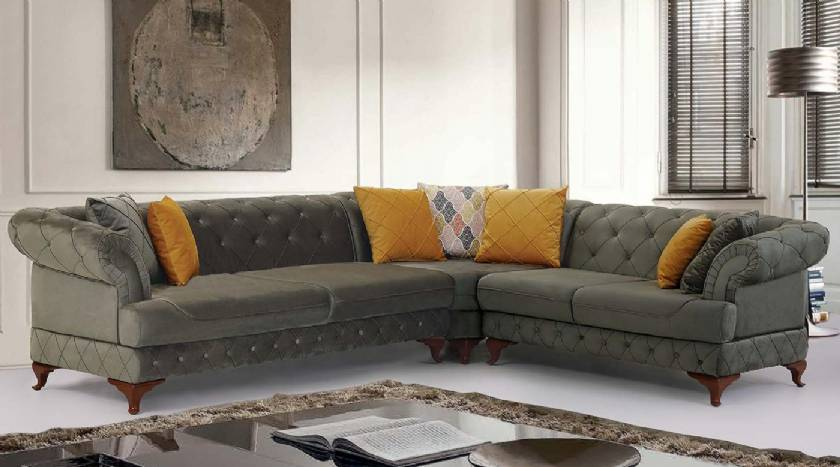 modern luxury chesterfield corner sofa living room corner sofa designs