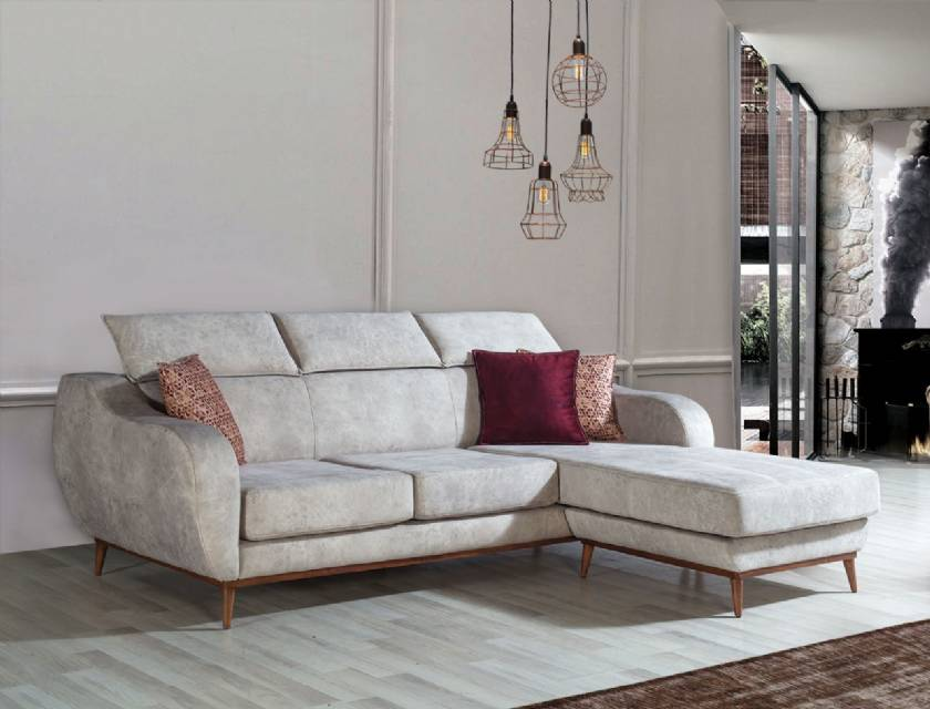 Modern Luxury L shaped corner sofa for small living room