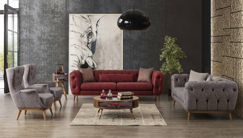 Modern Luxury Sofa Set Contemporary Leather Italian Sofa