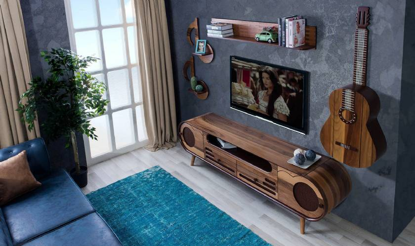 Modern New TV Stand provocative design using circular shaped