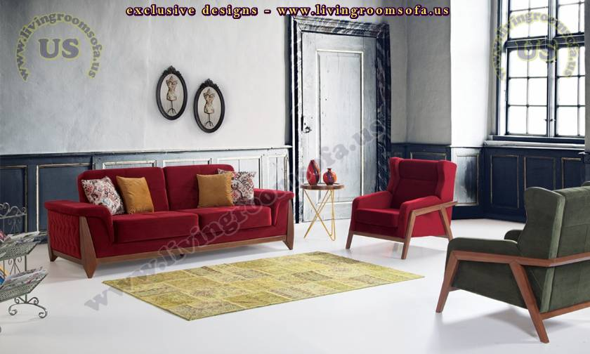 Modern Sofa Set Beautiful Vibrant Colors