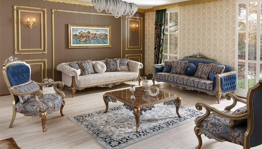 New Classic Style Victorian Carved Antique Style Luxury Living Room Sofa