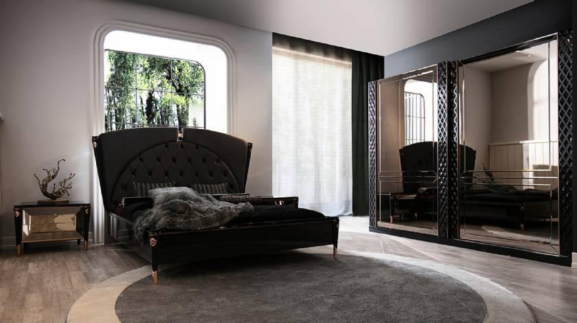 New Style Luxury Modern Bedroom Furniture Sliced Beds